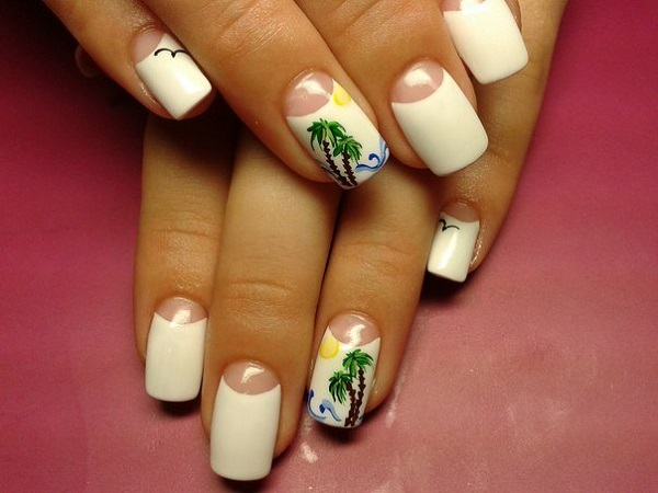 Palm Tree Nail Art 7