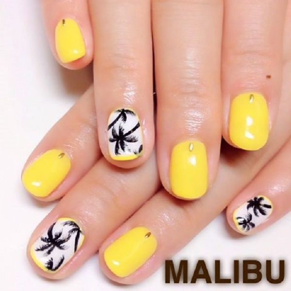 Palm Tree Nail Art 9