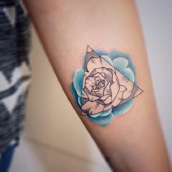 Triangular Glyph Tattoos 1