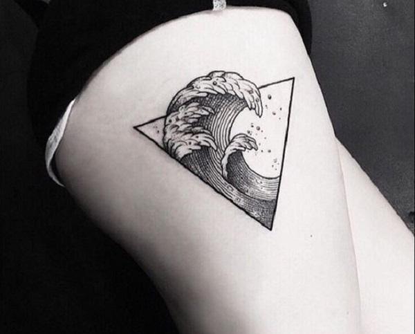 Triangular Glyph Tattoos 10