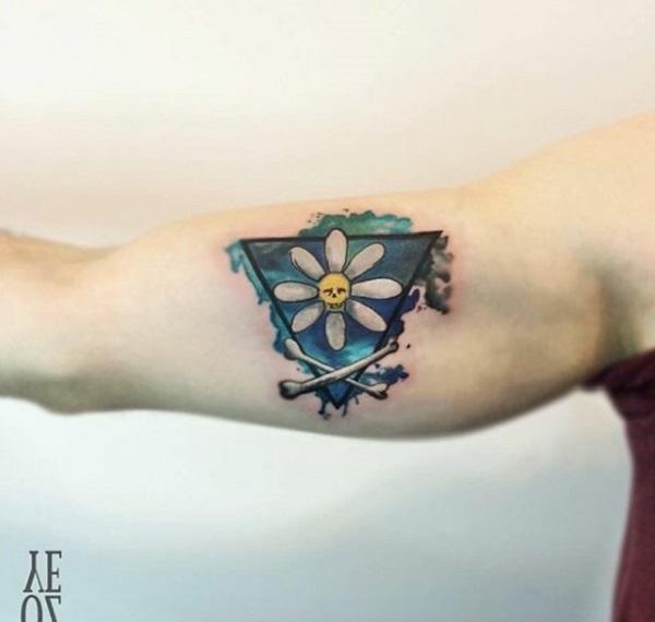 Triangular Glyph Tattoos 13