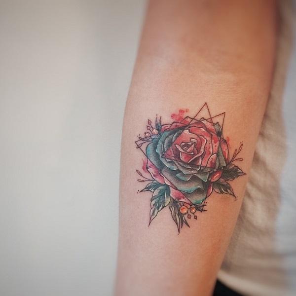 Triangular Glyph Tattoos 14