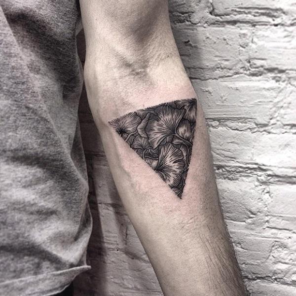 Triangular Glyph Tattoos 15