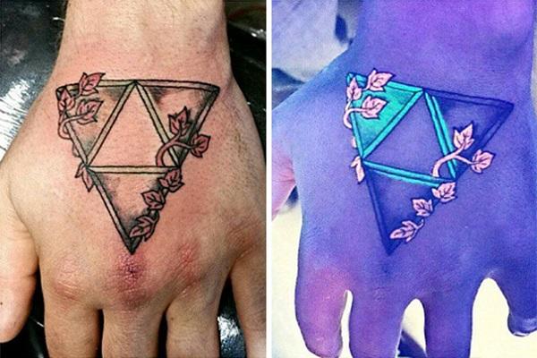 Triangular Glyph Tattoos 18