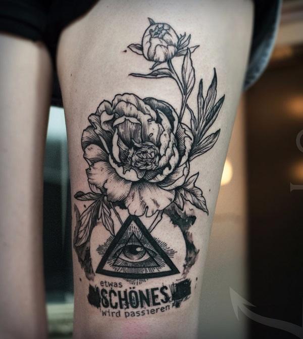 Triangular Glyph Tattoos 23