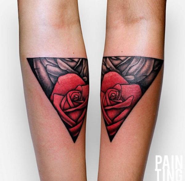 Triangular Glyph Tattoos 24