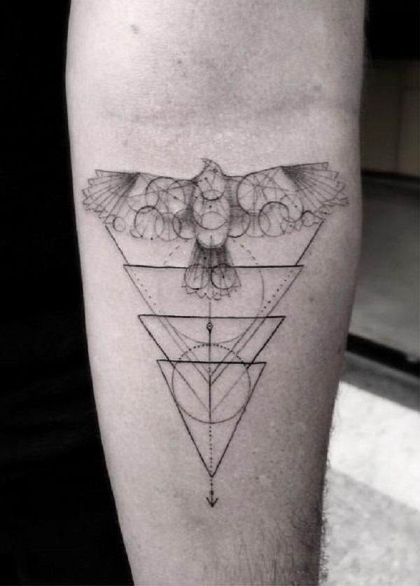 Triangular Glyph Tattoos 26