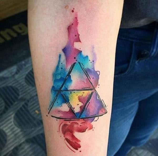 Triangular Glyph Tattoos 3