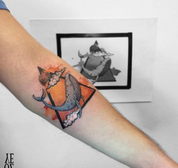 Triangular Glyph Tattoos 31
