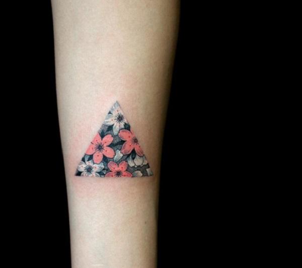 Triangular Glyph Tattoos 33