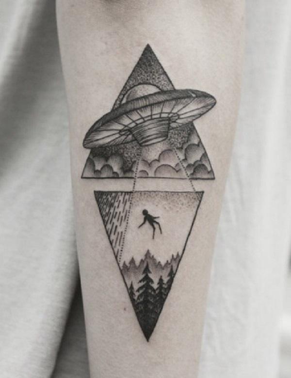 Triangular Glyph Tattoos 34