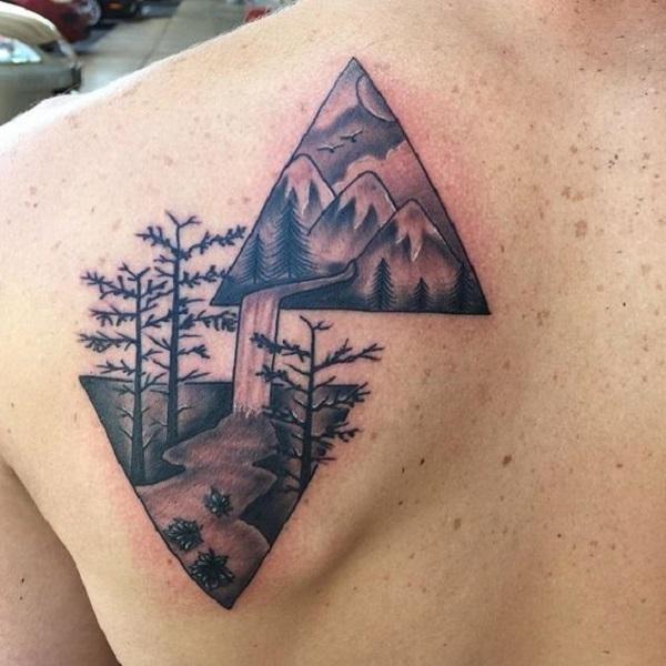 Triangular Glyph Tattoos 6