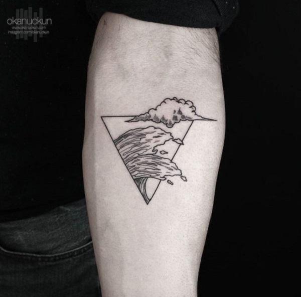Triangular Glyph Tattoos 9