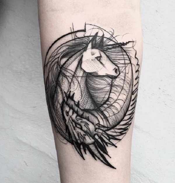 Unicorn Tattoo Design 10
