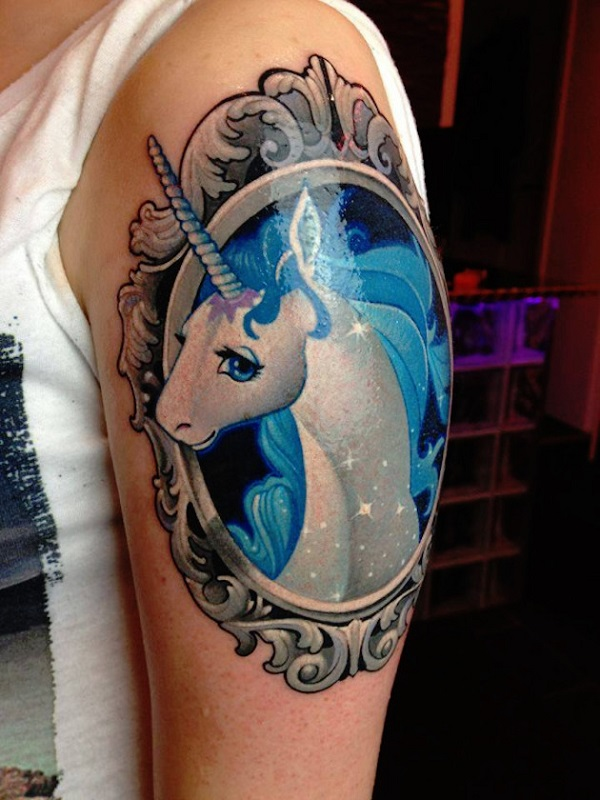 Unicorn Tattoo Design 11