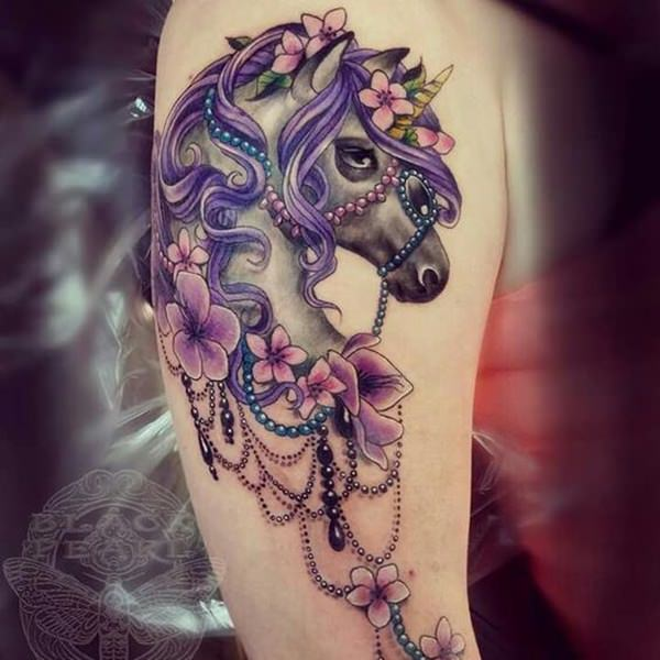 Unicorn Tattoo Design 13