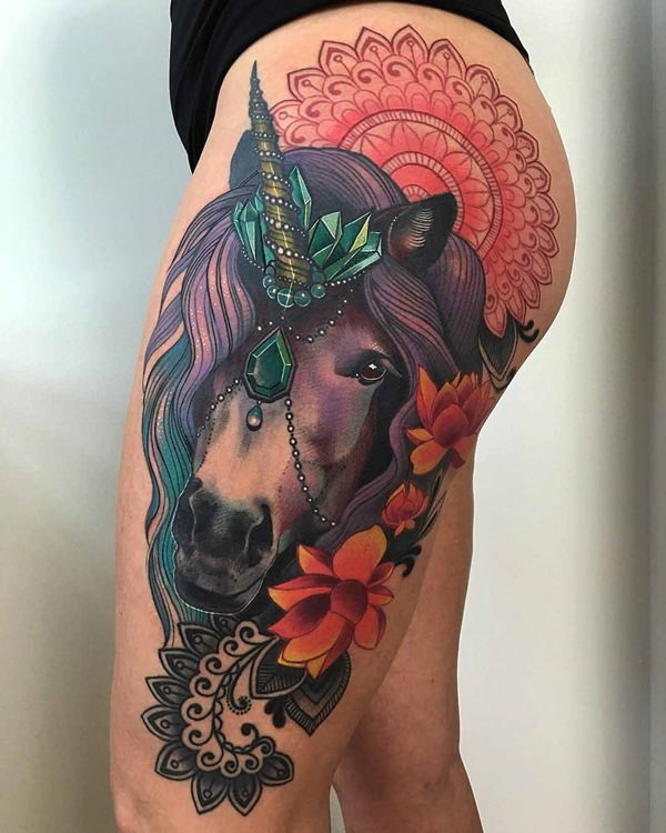Unicorn Tattoo Design 2