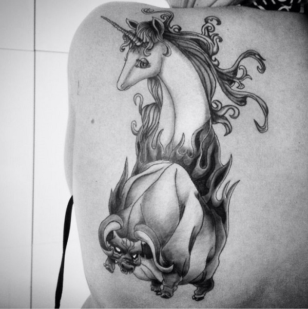 Unicorn Tattoo Design 21
