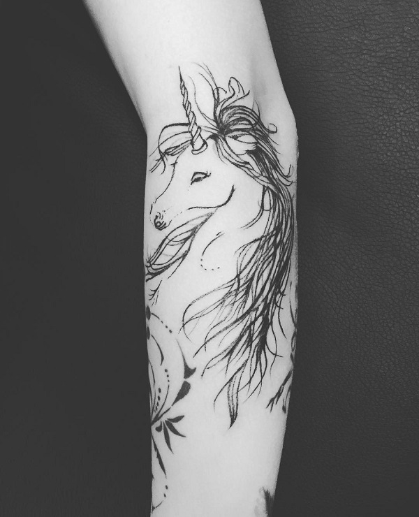 Unicorn Tattoo Design 29