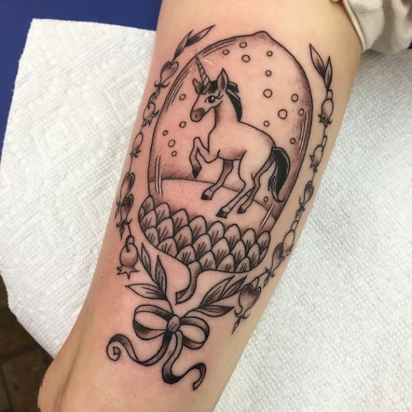 Unicorn Tattoo Design 31