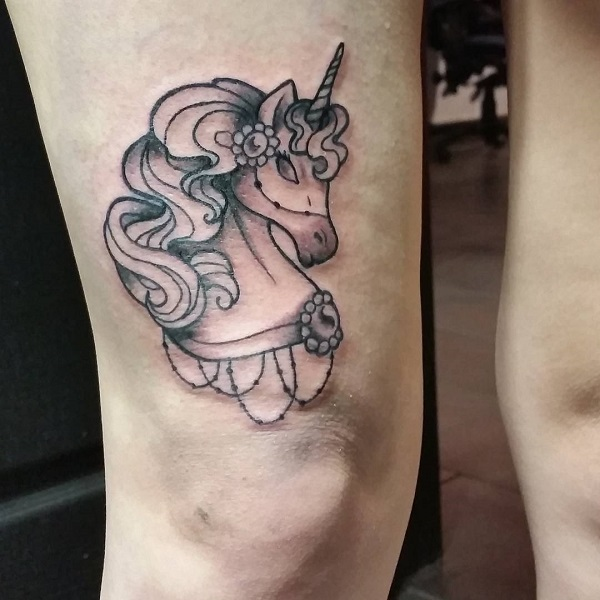 Unicorn Tattoo Design 5
