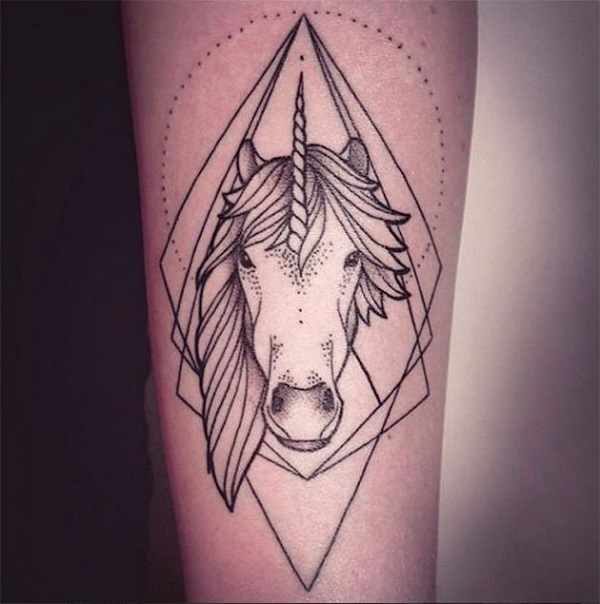 Unicorn Tattoo Design 8
