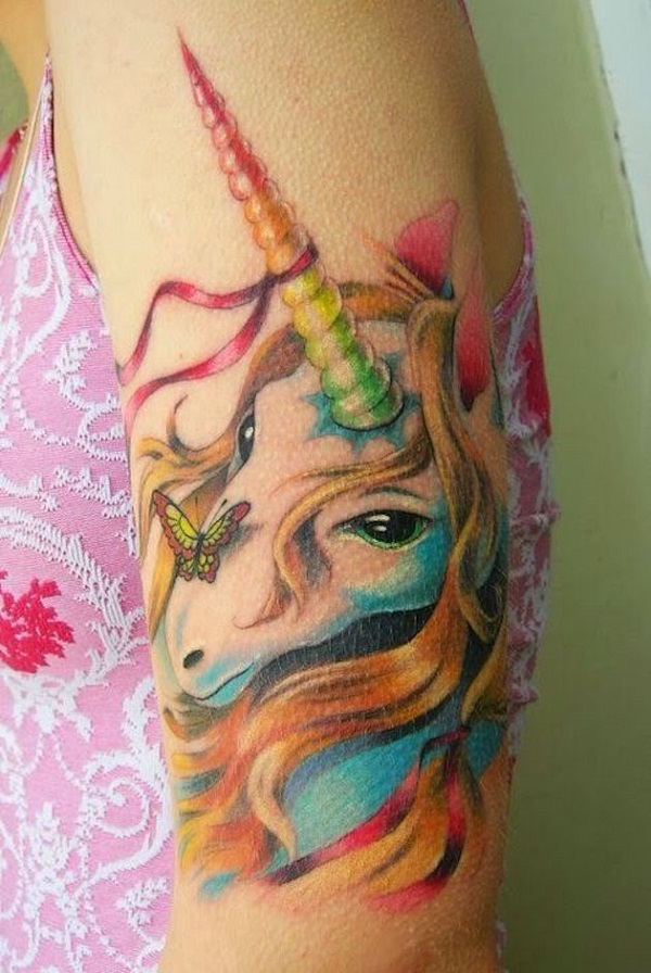 Unicorn Tattoo Design 9