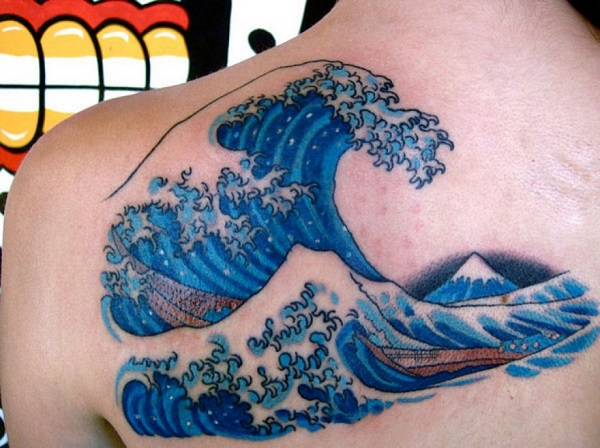 Wave Tattoo Dsign 26