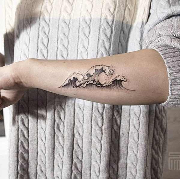 Wave Tattoo Dsign 27