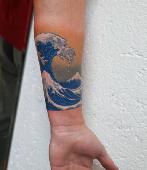 Wave Tattoo Dsign 30