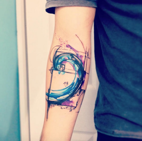 Wave Tattoo Dsign 32