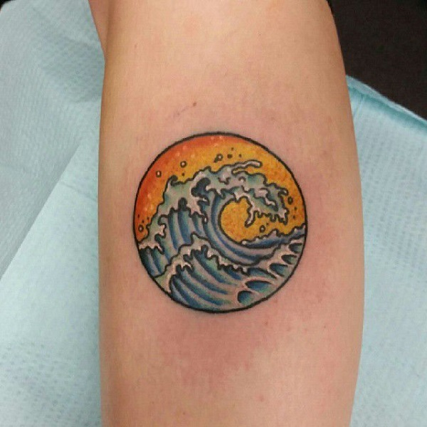 Wave Tattoo Dsign 33