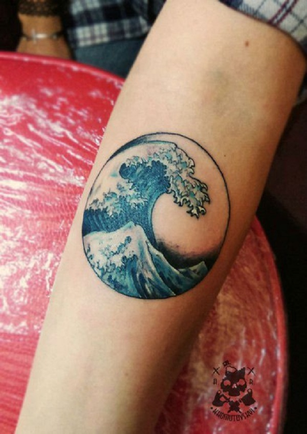 Wave Tattoo Dsign 34