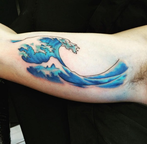 Wave Tattoo Dsign 35