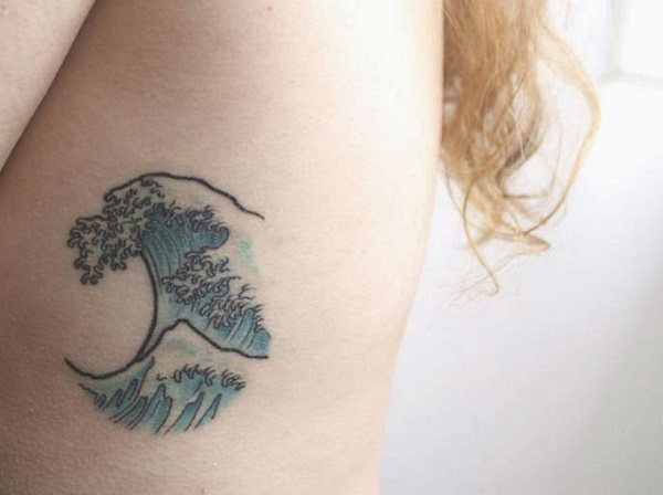 Wave Tattoo Dsign 5