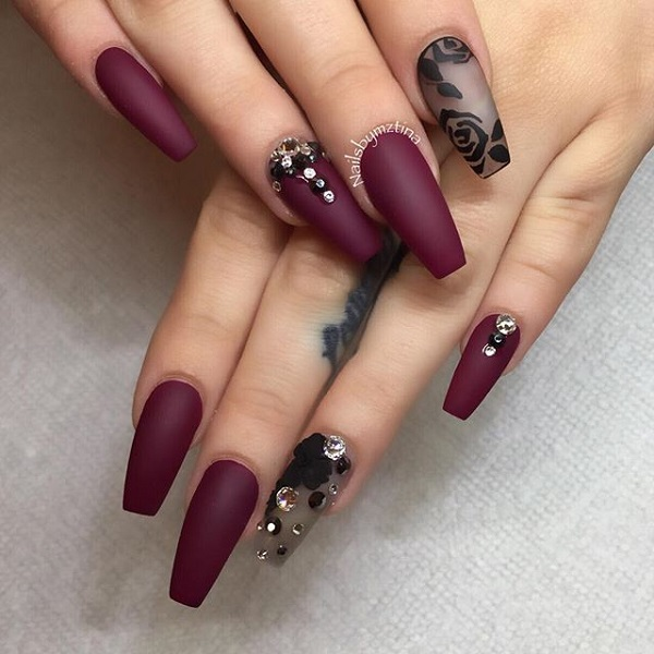 35 Maroon Nails Designs - nenuno creative
