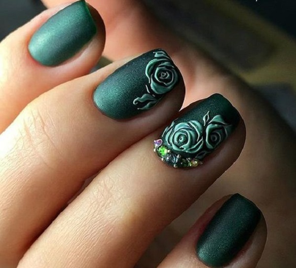 55 Green Nail Art Designs - nenuno creative