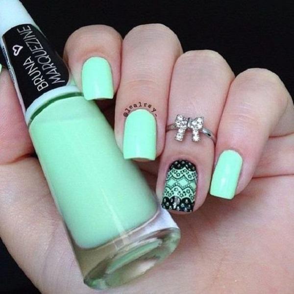 55 Green Nail Art Designs Nenuno Creative