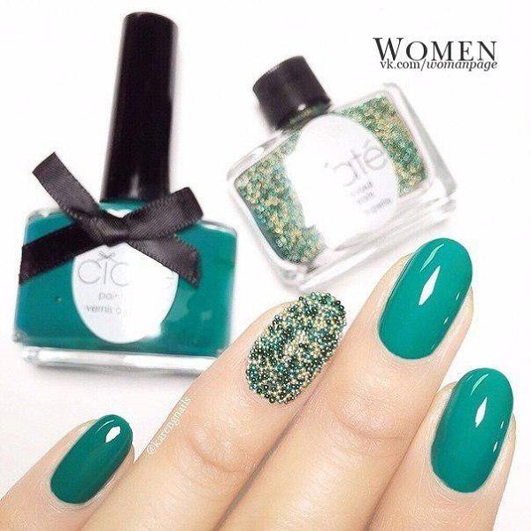 55 Green Nail Art Designs Nenuno Creative