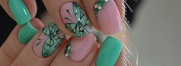 55 Green Nail Art Designs - 55 Green Nail Art Designs - Nenuno Creative