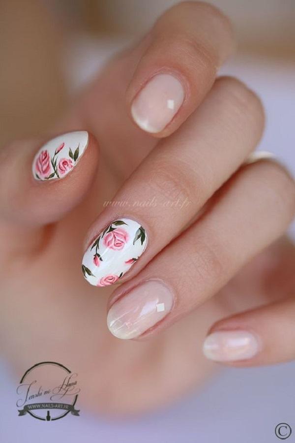 50 Rose Nail Art Design Ideas , nenuno creative