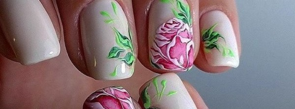 50 rose nail art design ideas - Nail Art Design Ideas