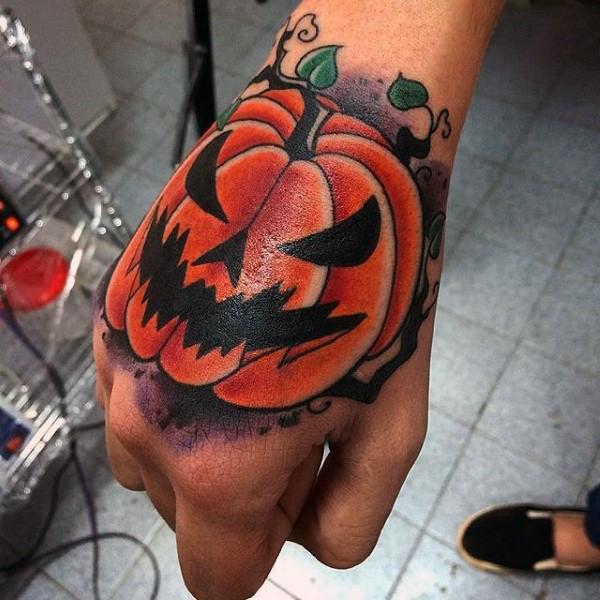 55 halloween tattoo designs nenuno creative for Tattoos of pumpkins