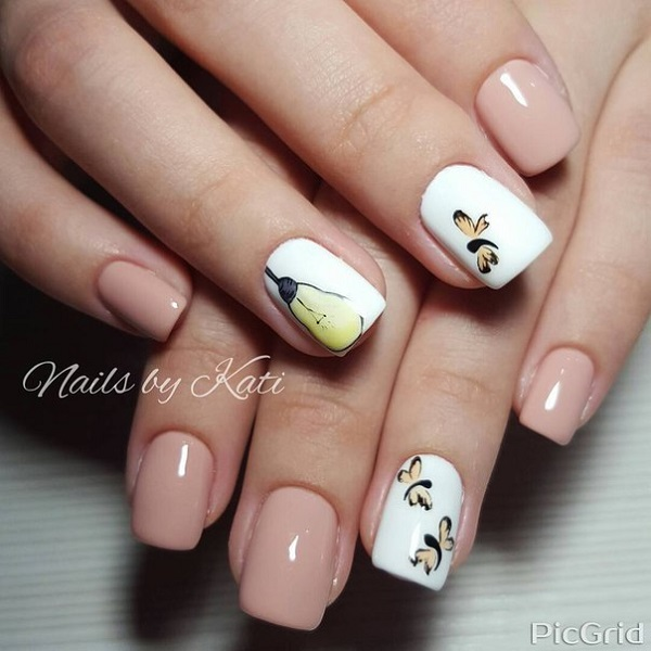 35 nail designs for winter nenuno creative a really cute and artsy winter nail art design unlike floral designs this nail prinsesfo Image collections