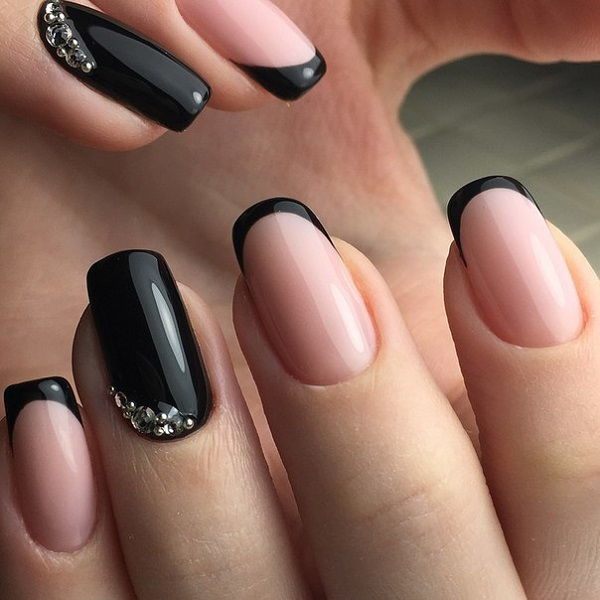 50 BLACK NAIL ART DESIGNS , nenuno creative
