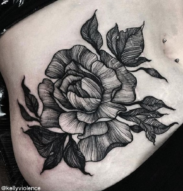 Flower Tattoo Design Black And White