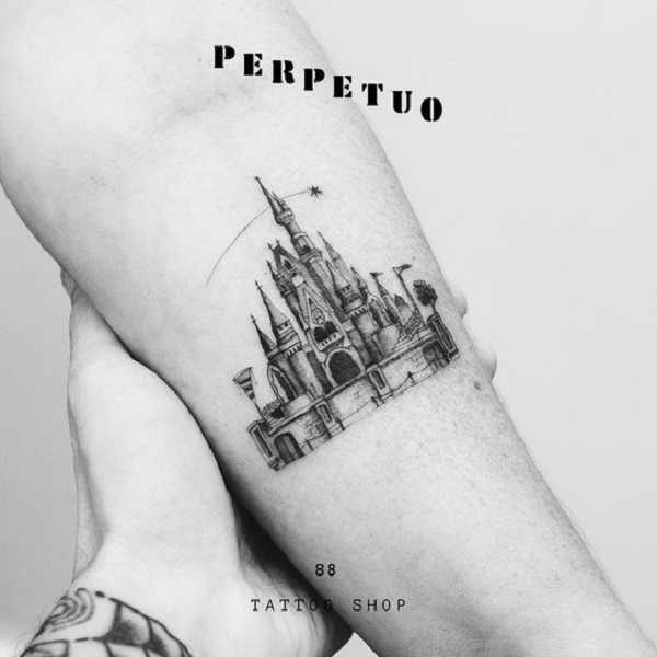 2f3efdcd3 Fantasy Castle Tattoo Design. This simple yet attractive piece of art is  what, you