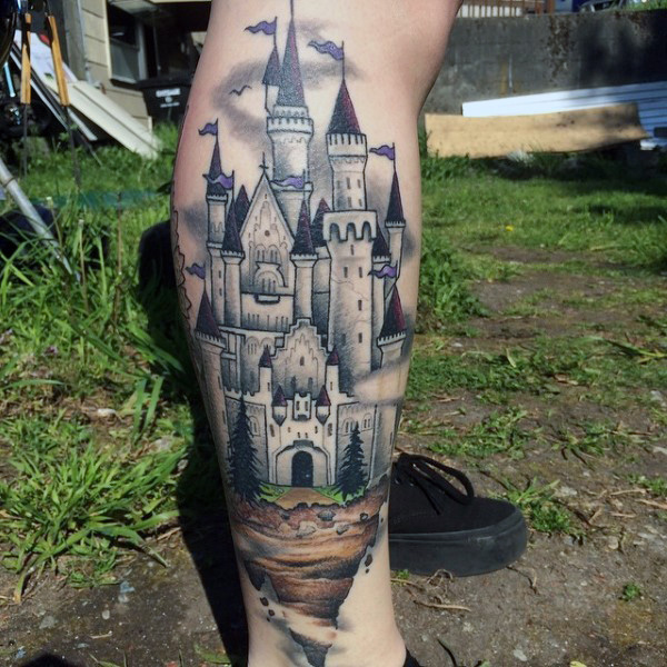 ca37d8899 Tower Castle Tattoo Design. Get your arm embellished with this highly  erected tower castle tattoo