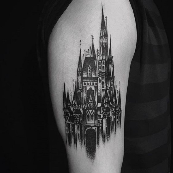 7764967814ebc Shaded Black Castle. This castle formed as a result of the awesome  creativity is Black