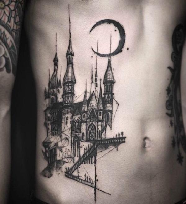 55 castle tattoo art designs nenuno creative. Black Bedroom Furniture Sets. Home Design Ideas